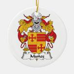 Escudo de la familia de Munoz Ornamento Para Reyes Magos