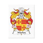 Escudo de la familia de Munoz Impresion En Lona