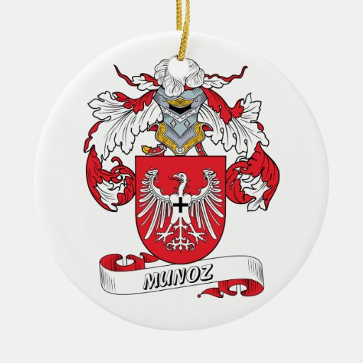 Escudo de la familia de Munoz Ornamento De Navidad