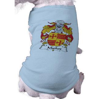 Escudo de la familia de Munoz Playera Sin Mangas Para Perro
