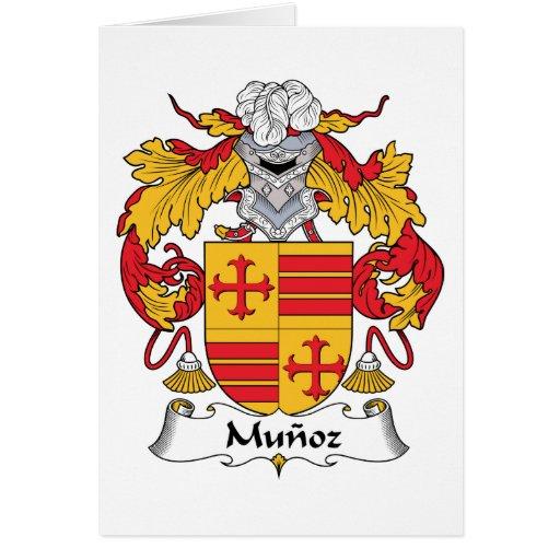 Escudo de la familia de Munoz Tarjeta De Felicitación