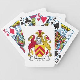 Escudo de la familia de Munson Baraja Cartas De Poker
