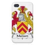 Escudo de la familia de Munson iPhone 4 Protectores