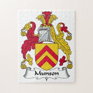 Escudo de la familia de Munson Rompecabeza