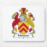 Escudo de la familia de Munson Alfombrilla De Raton