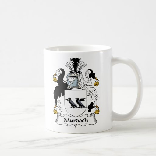 Escudo de la familia de Murdoch Tazas