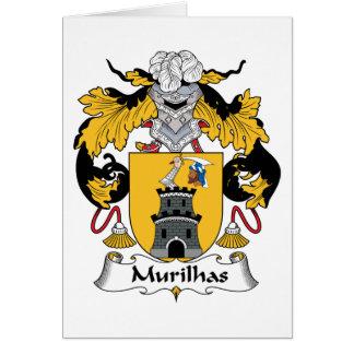Escudo de la familia de Murilhas Tarjeta De Felicitación