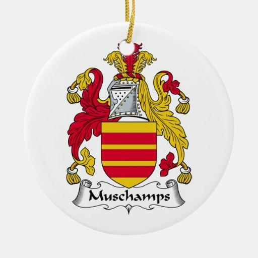 Escudo de la familia de Muschamps Ornamento Para Reyes Magos