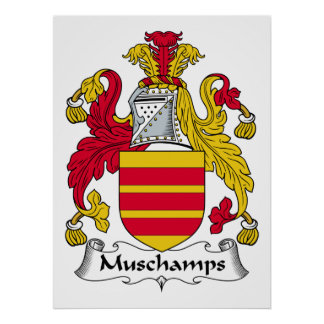 Escudo de la familia de Muschamps Impresiones