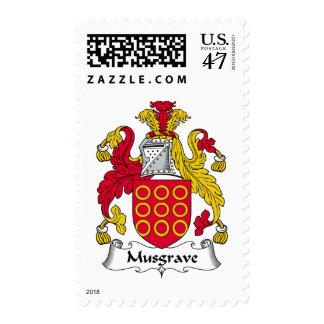 Escudo de la familia de Musgrave Estampilla