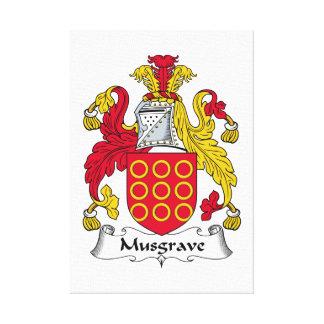 Escudo de la familia de Musgrave Lona Envuelta Para Galerías