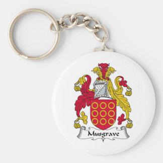 Escudo de la familia de Musgrave Llavero Redondo Tipo Pin