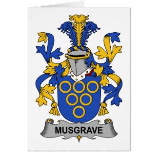 Escudo de la familia de Musgrave Tarjeta De Felicitación