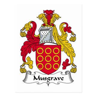Escudo de la familia de Musgrave Tarjeta Postal