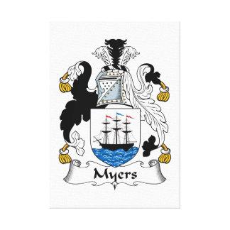 Escudo de la familia de Myers Impresion De Lienzo