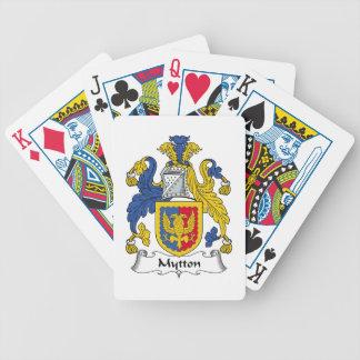 Escudo de la familia de Mytton Baraja Cartas De Poker