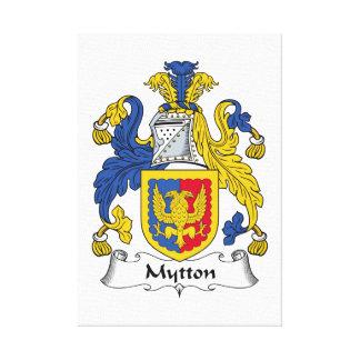 Escudo de la familia de Mytton Lona Estirada Galerías