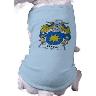 Escudo de la familia de Nadal Playera Sin Mangas Para Perro