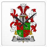 Escudo de la familia de Naghten Reloj De Pared