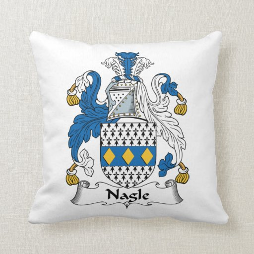 Escudo de la familia de Nagle Almohadas