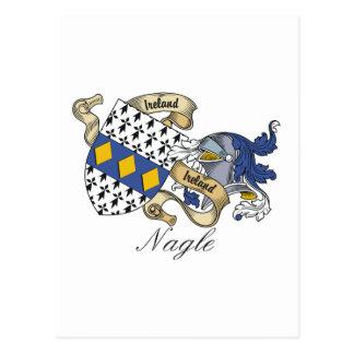 Escudo de la familia de Nagle Postal