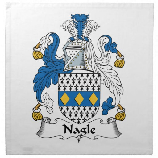 Escudo de la familia de Nagle Servilletas