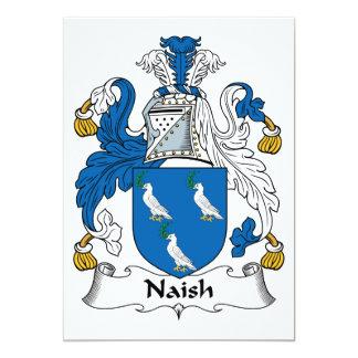 """Escudo de la familia de Naish Invitación 5"""" X 7"""""""