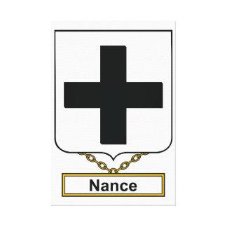 Escudo de la familia de Nance Impresión En Lienzo