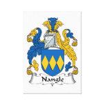 Escudo de la familia de Nangle Impresiones De Lienzo