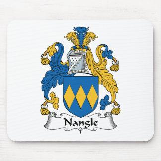 Escudo de la familia de Nangle Tapetes De Ratón