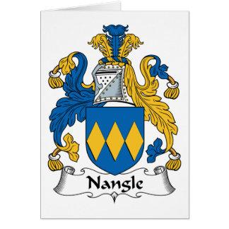 Escudo de la familia de Nangle Tarjeta De Felicitación
