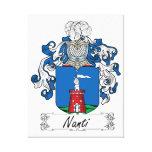 Escudo de la familia de Nanti Impresión En Lienzo Estirada