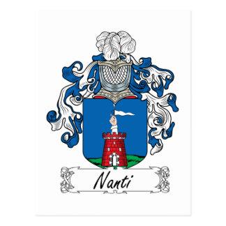 Escudo de la familia de Nanti Tarjetas Postales