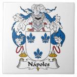 Escudo de la familia de Napoles Azulejos