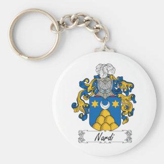 Escudo de la familia de Nardi Llavero Redondo Tipo Pin