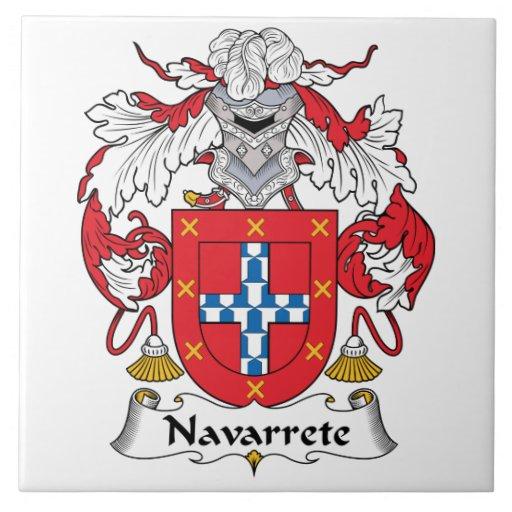 Escudo de la familia de Narvarrete Azulejos Cerámicos