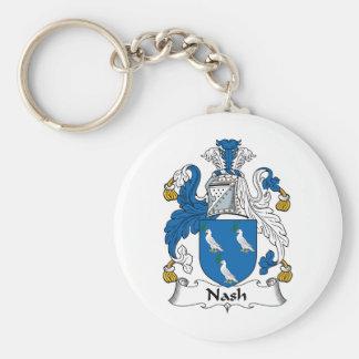 Escudo de la familia de Nash Llavero Redondo Tipo Pin