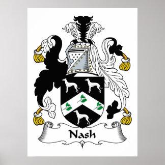 Escudo de la familia de Nash Póster
