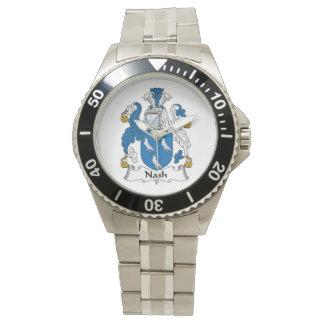 Escudo de la familia de Nash Reloj