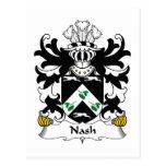Escudo de la familia de Nash Tarjetas Postales
