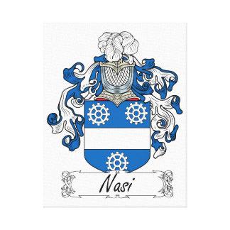 Escudo de la familia de Nasi Lona Envuelta Para Galerías