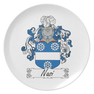 Escudo de la familia de Nasi Platos Para Fiestas