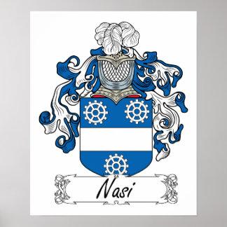 Escudo de la familia de Nasi Poster