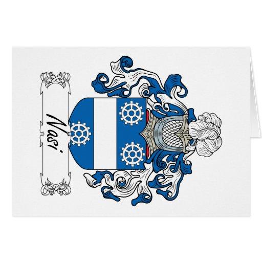 Escudo de la familia de Nasi Tarjeta De Felicitación