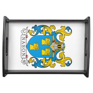 Escudo de la familia de Nason Bandeja
