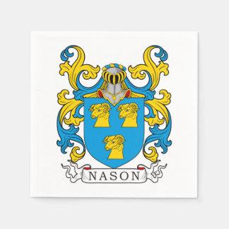 Escudo de la familia de Nason Servilleta Desechable
