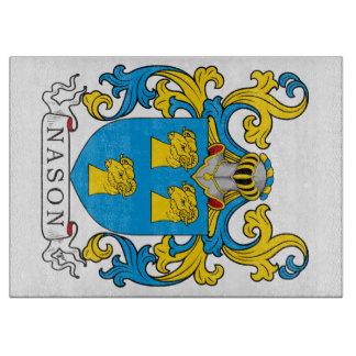 Escudo de la familia de Nason Tablas Para Cortar