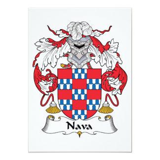 """Escudo de la familia de Nava Invitación 5"""" X 7"""""""