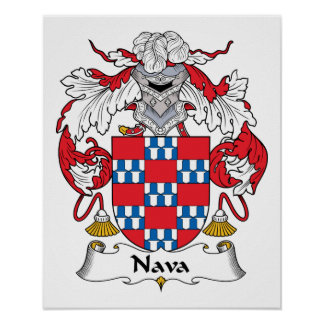 Escudo de la familia de Nava Poster