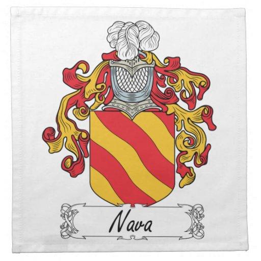 Escudo de la familia de Nava Servilleta De Papel
